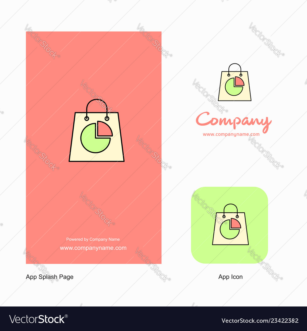 Shopping bag company logo app icon and splash