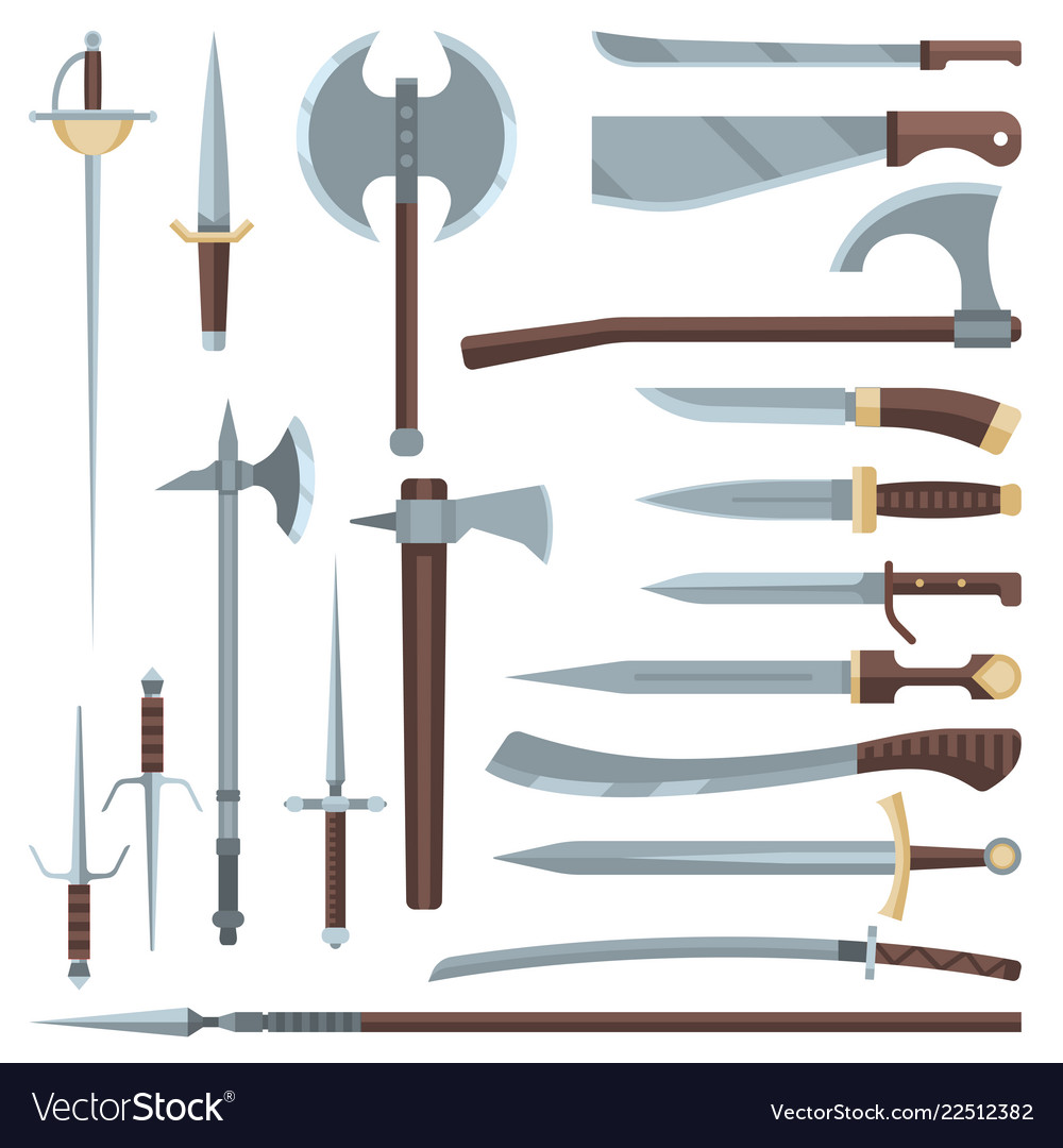 Sword medieval ancient weapon of knight