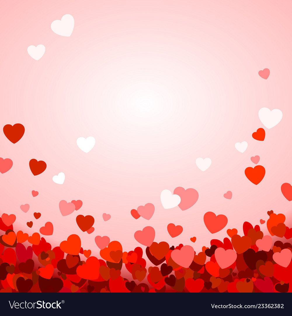 Valentines day background with hearts romantic