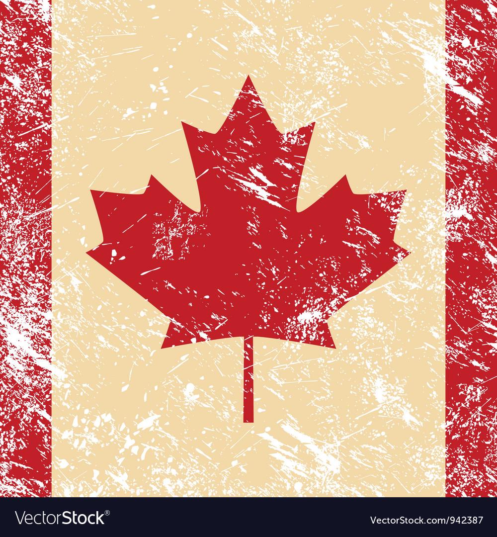 Canada retro flag vector image