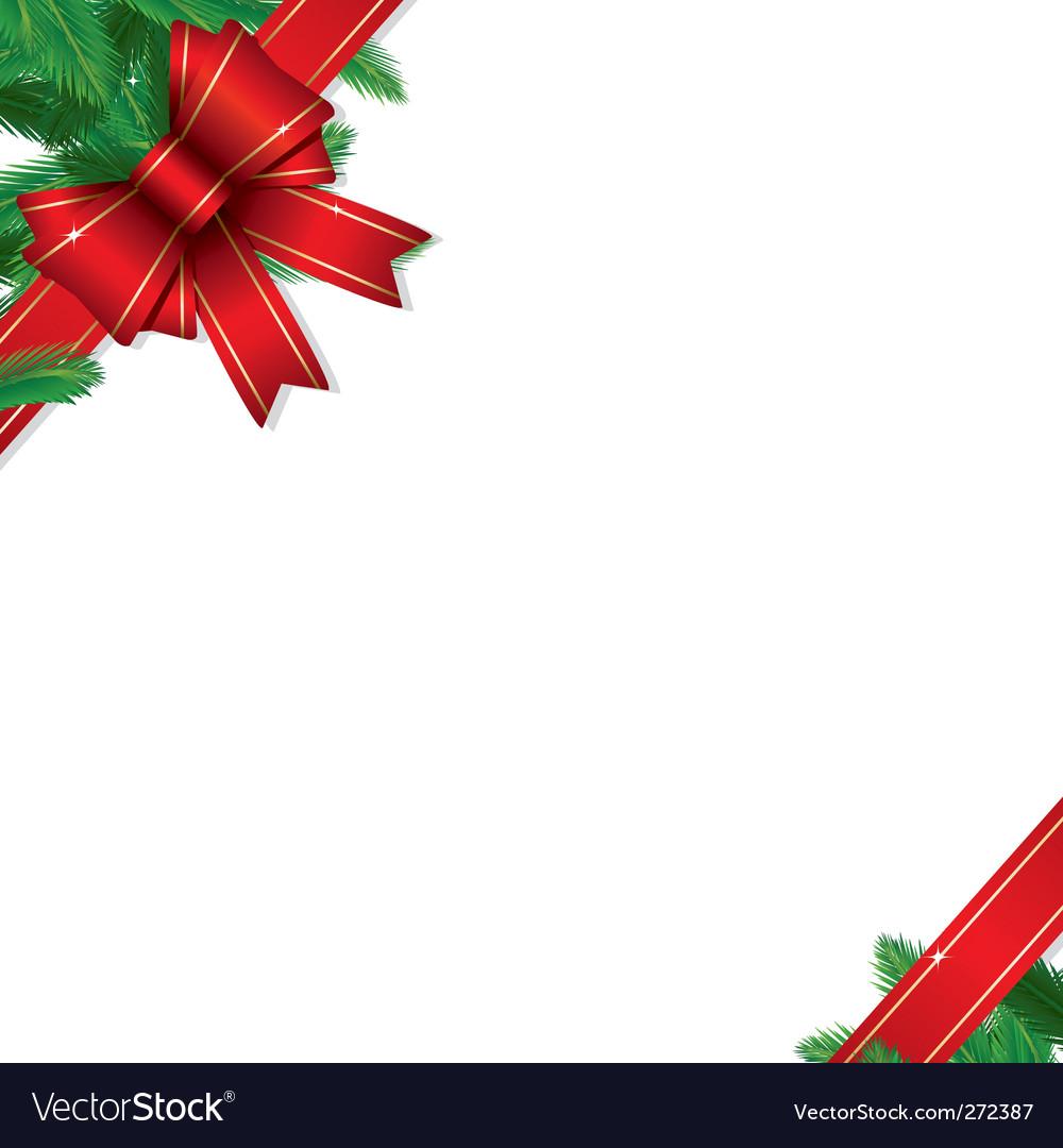Christmas gift border vector image