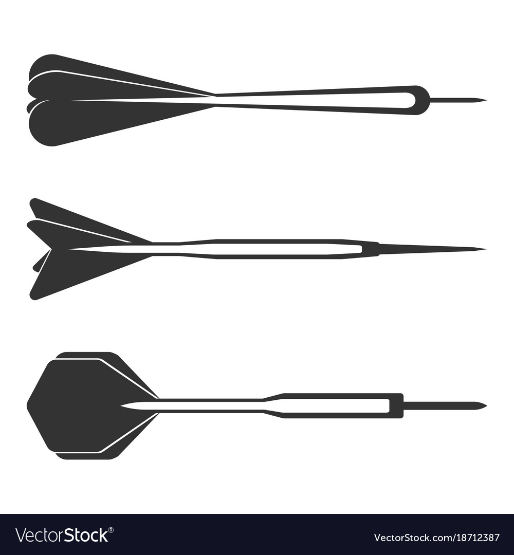 Dart arrows small missiles black silhouettes with