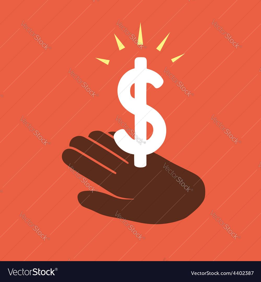 Gain money vector image