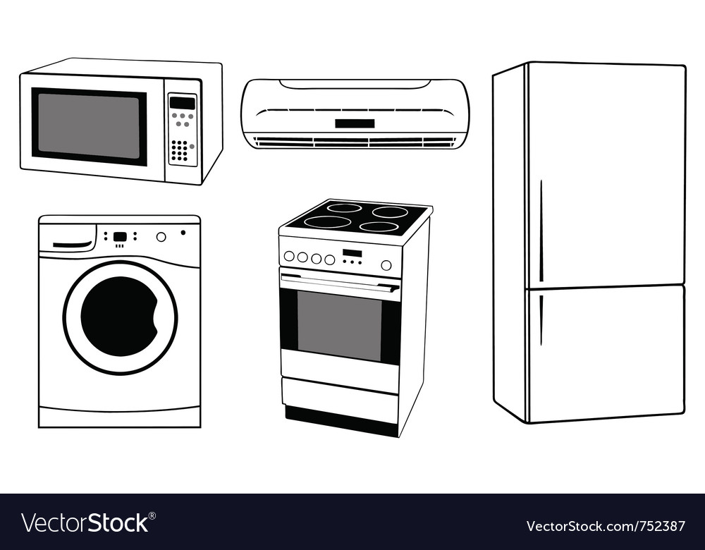 House appliances collage