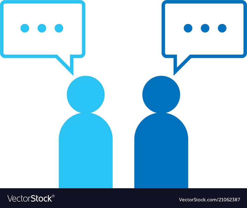 People icon social talk network group logo symbol