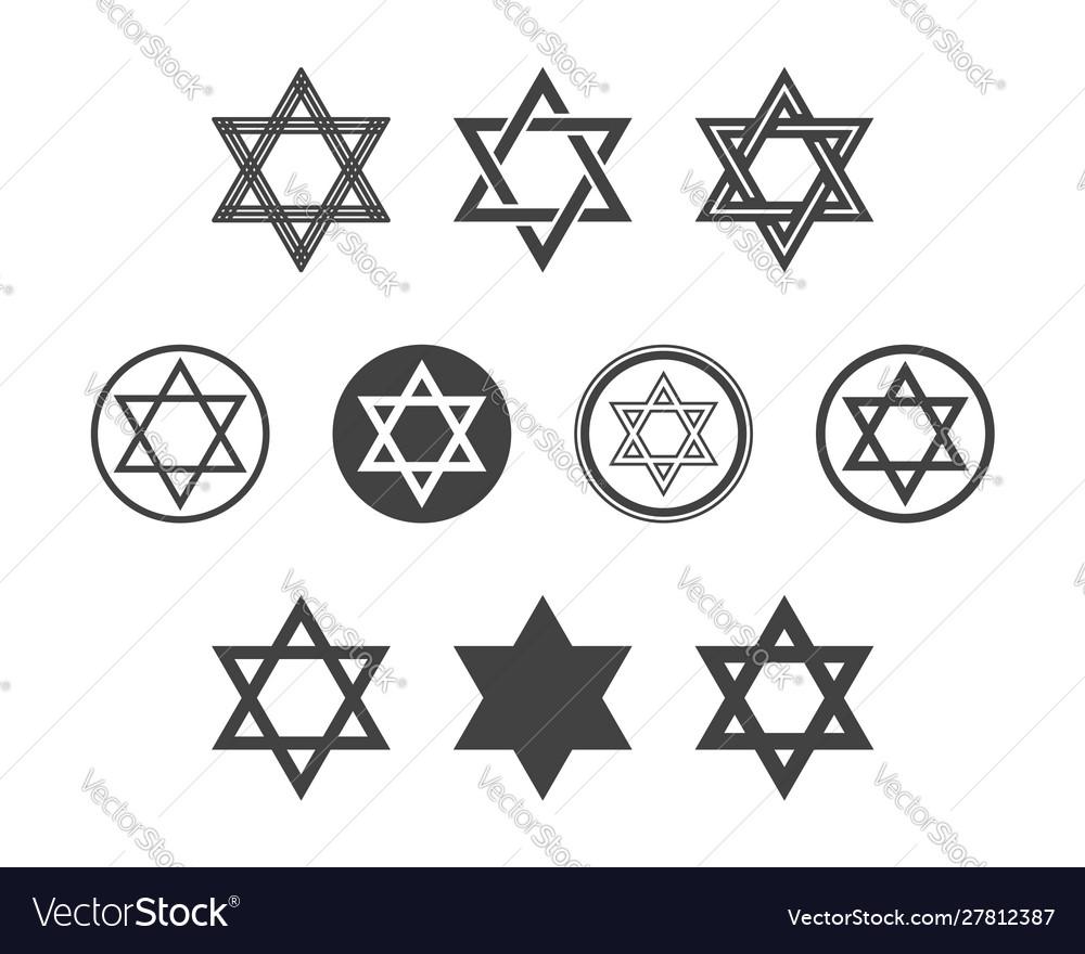 Shield magen david star set symbol israel