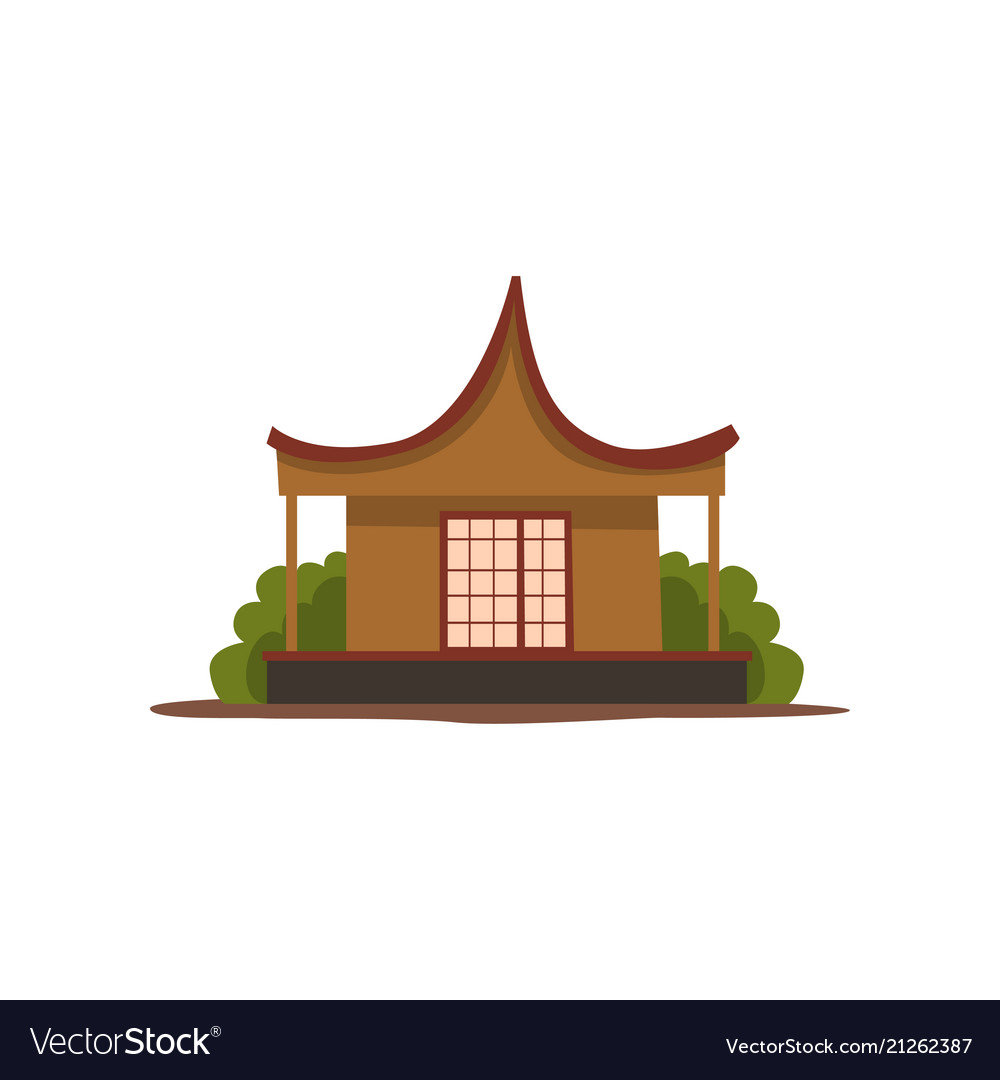 Wooden traditional chinese house vector image