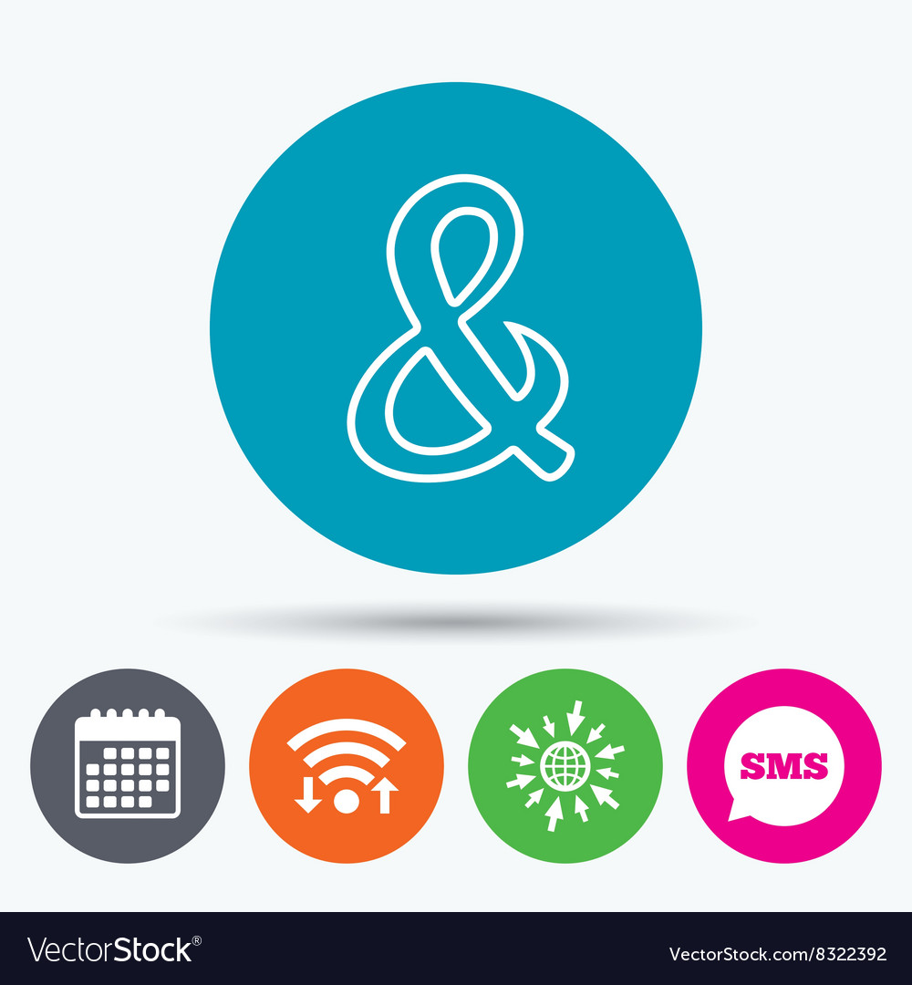 Ampersand sign icon Logical operator AND