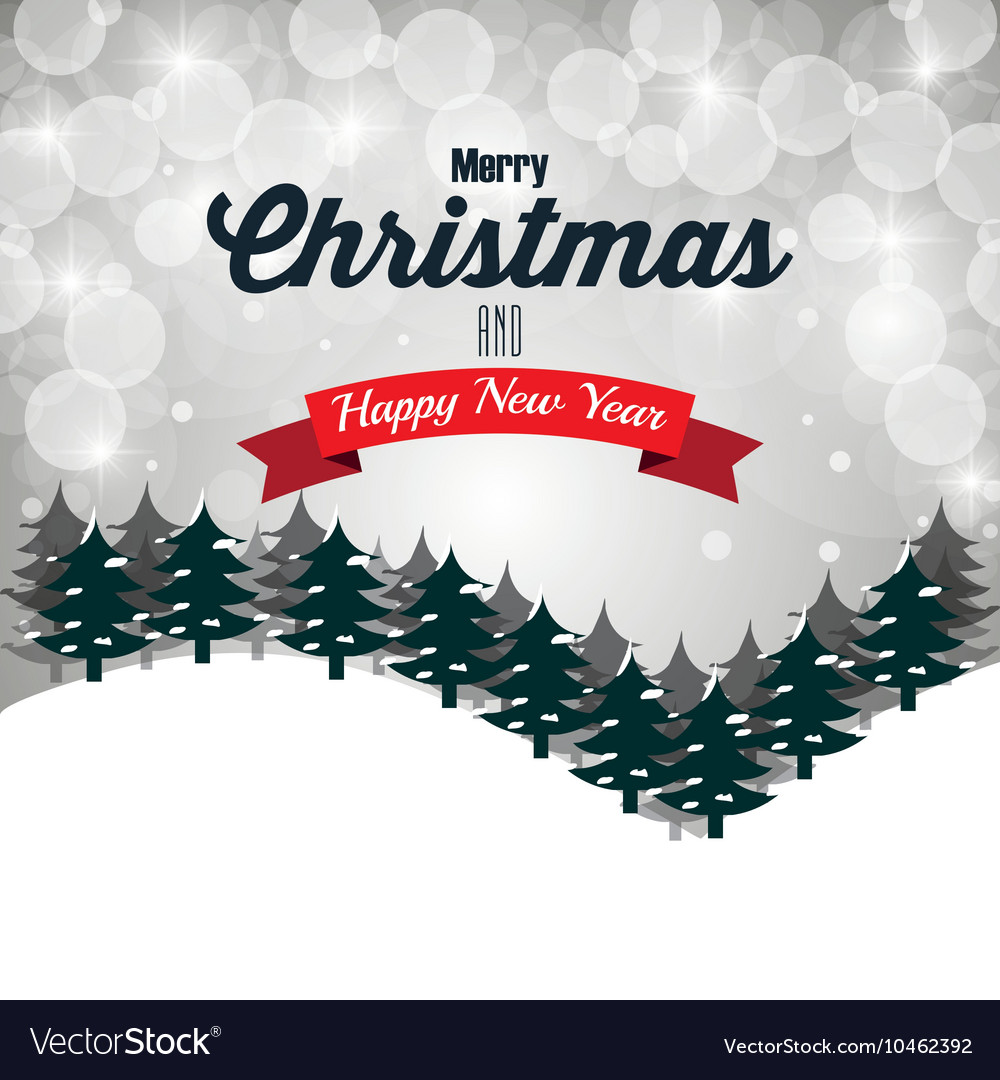 Happy Merry Christmas Card Isolated Royalty Free Vector