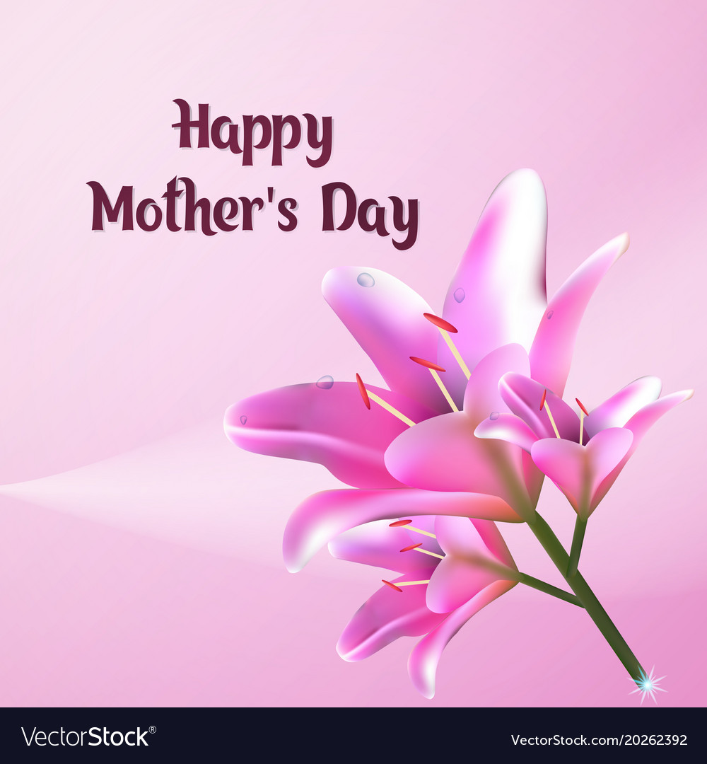 Happy Mothers Day Greeting Card Postcard With Vector Image On Vectorstock