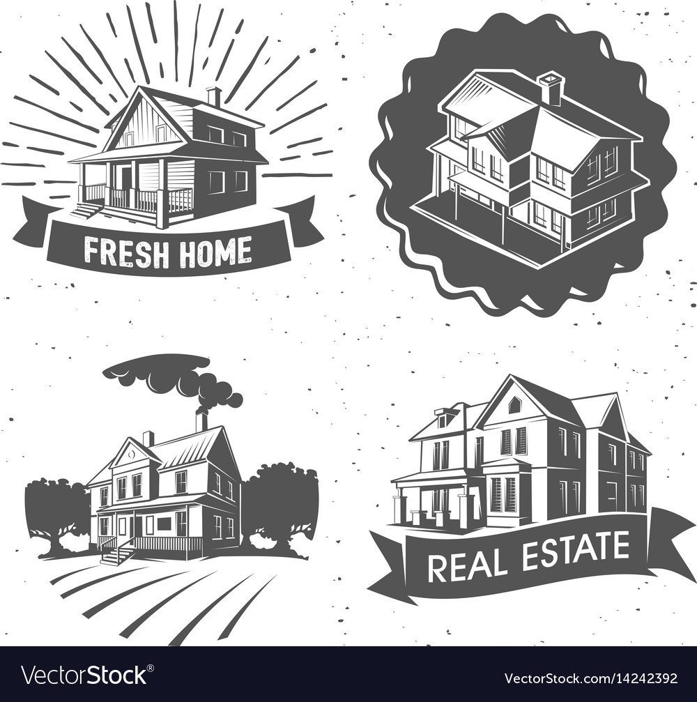 Real estate silhouette logotypes