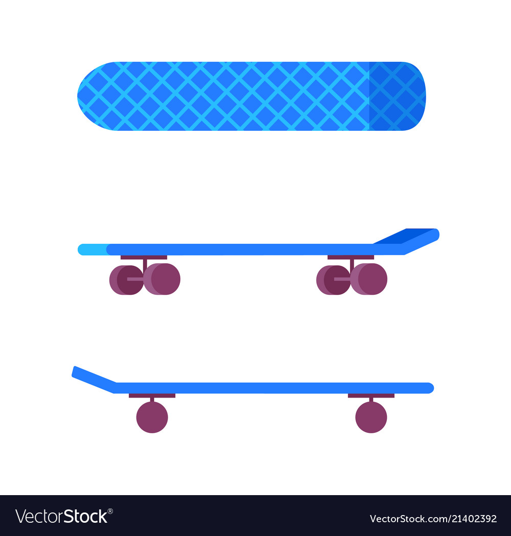 Skateboard of blue color