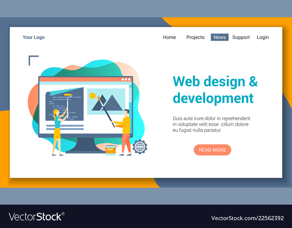Web development lp template