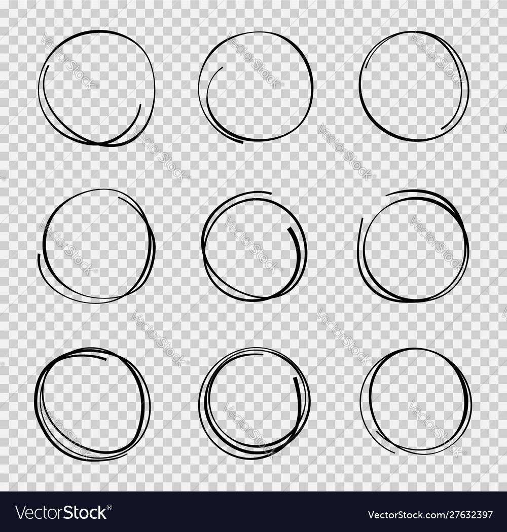 Design sketch hand drawn circle graphic round