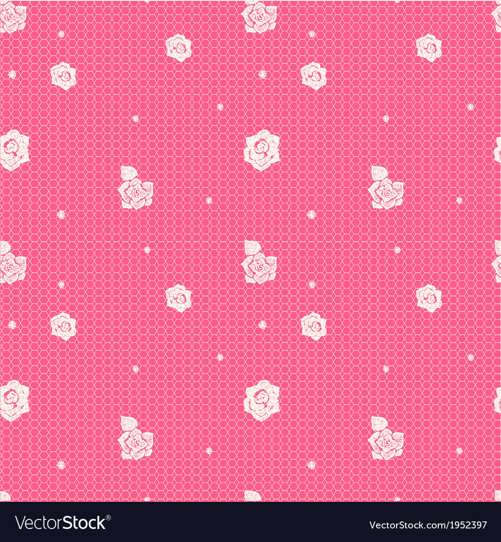 Floral lacy seamless pattern