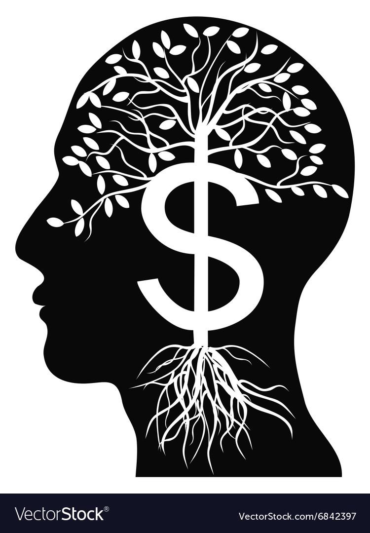 Human head money tree