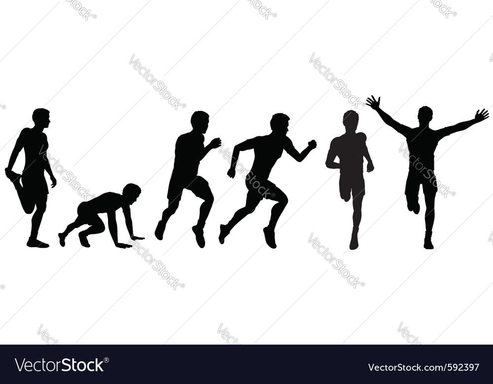 Running man for design vector image