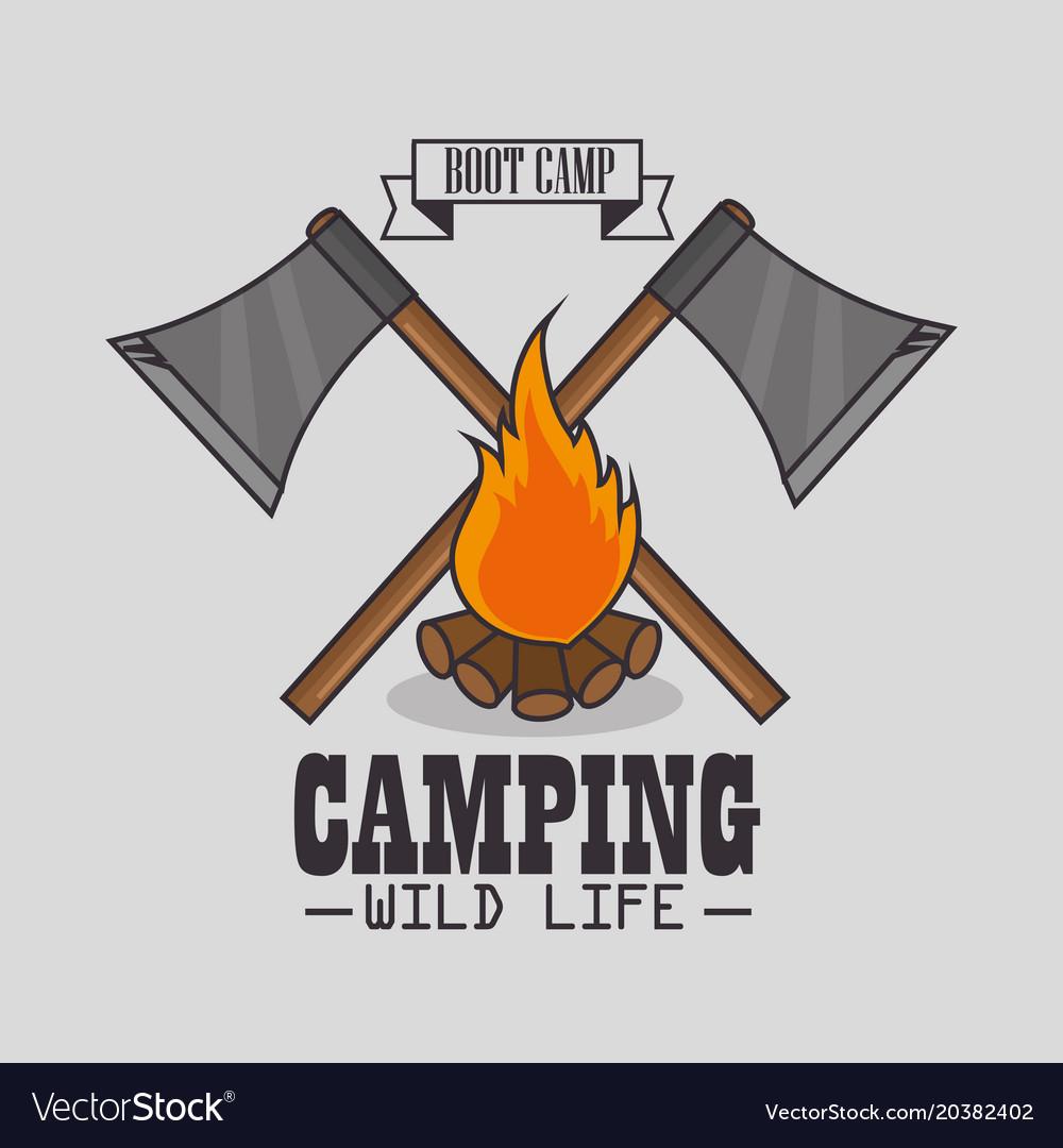 Camping outdoor adventure logo