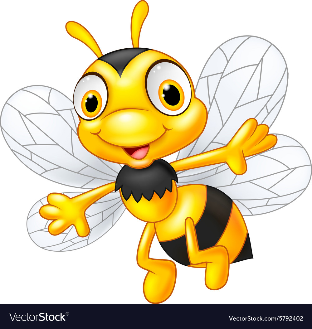 Cartoon cute bees