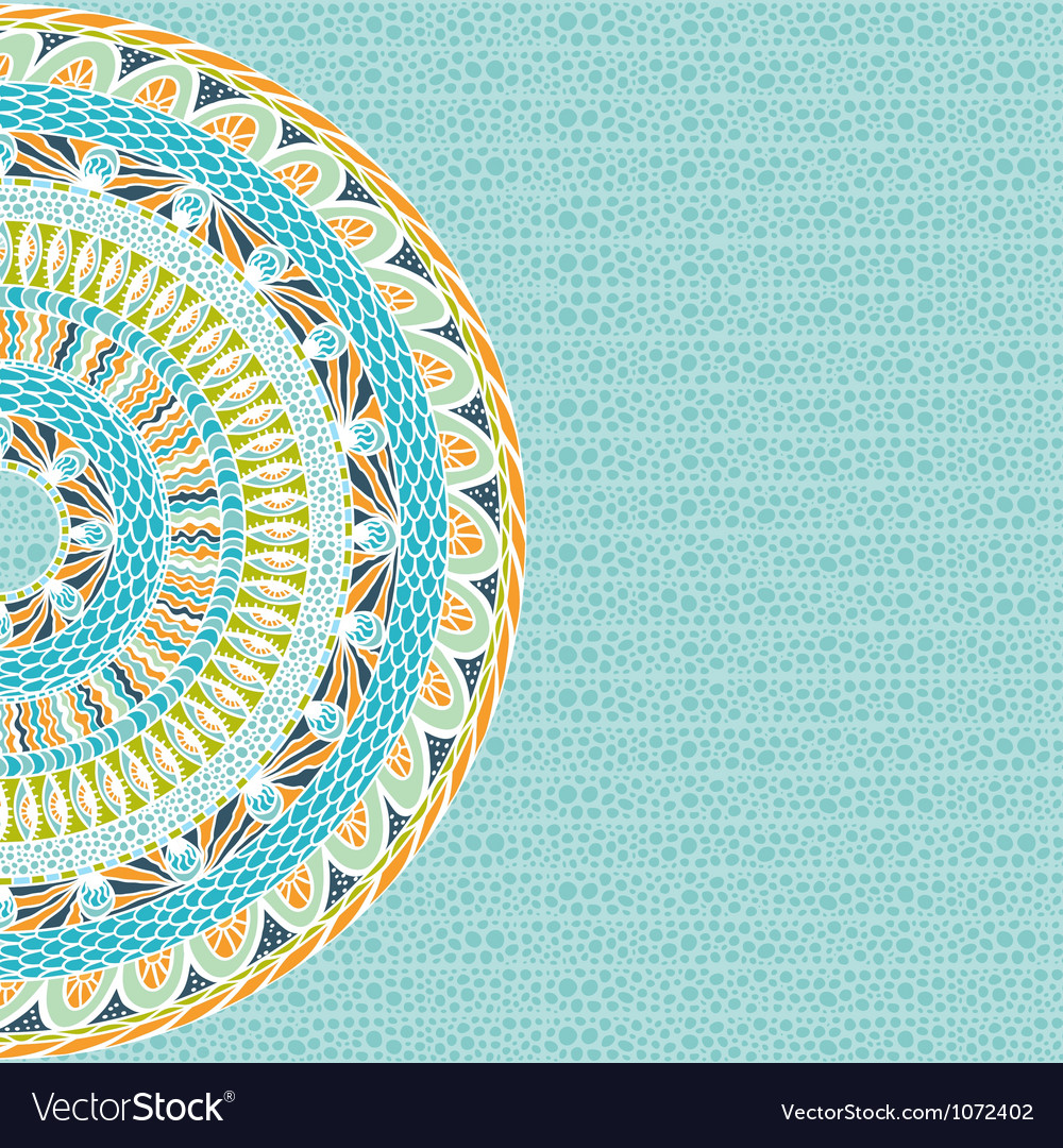Colorful ethnicity round ornament mosaic