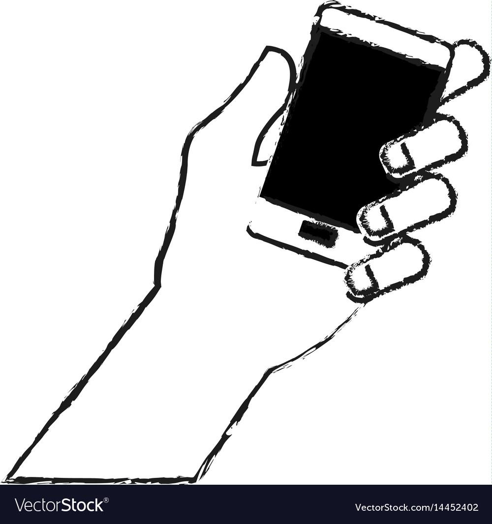 Hand holding phone icon image