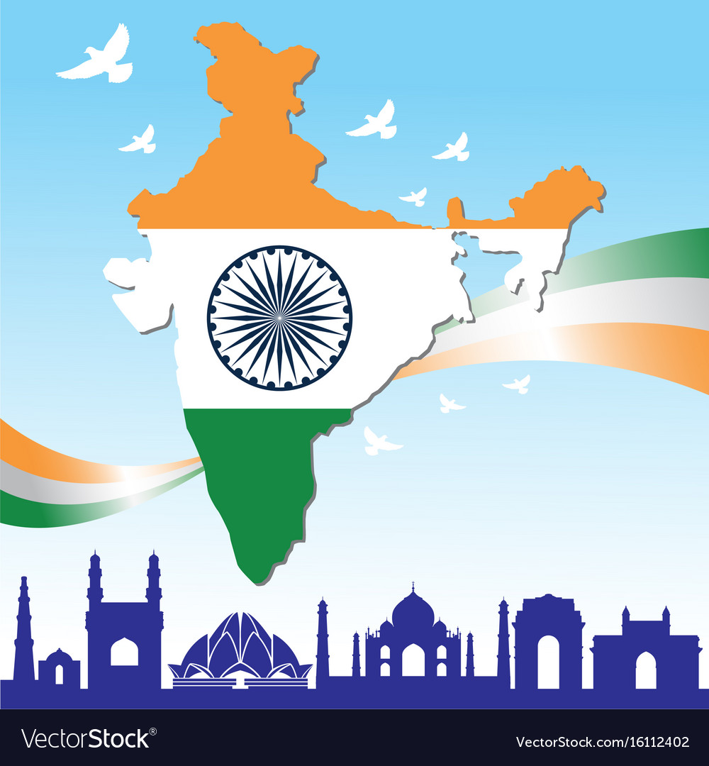 a6163a85a17aa Happy independence day india banner Royalty Free Vector