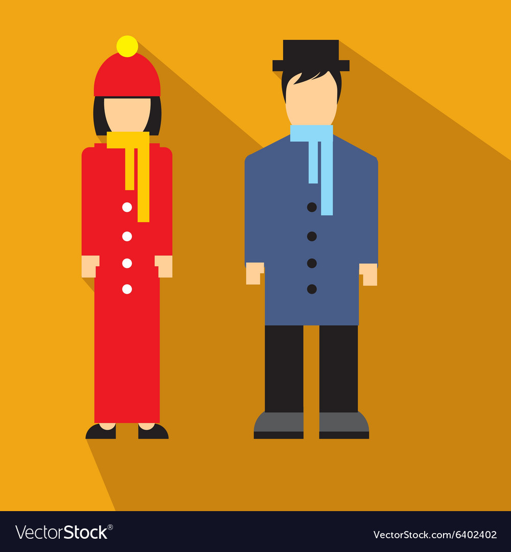 Man and woman flat icon
