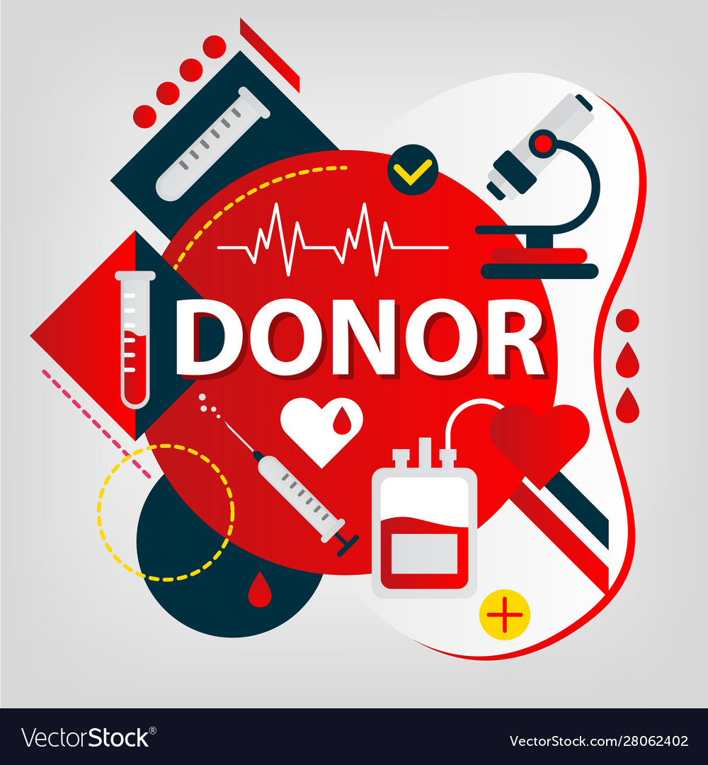 Medical concept donor day blood and organs