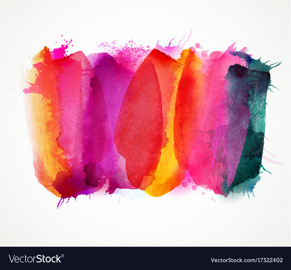 Purple lilac magenta and pink watercolor stains