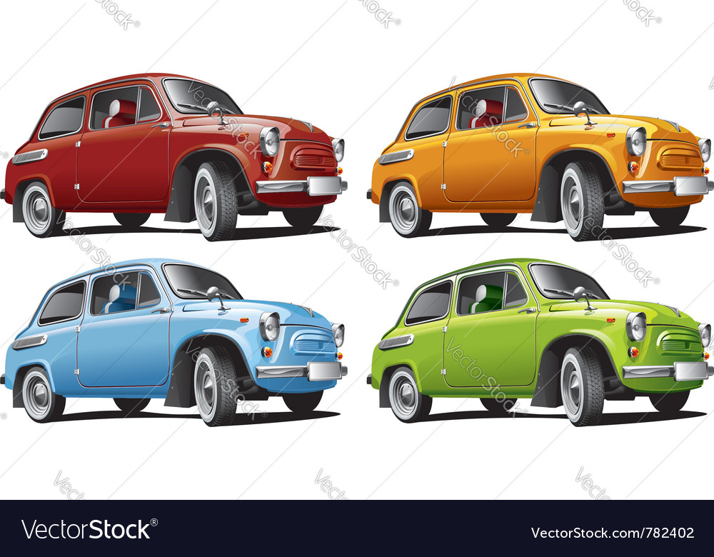 Vintage classic cars Royalty Free Vector Image