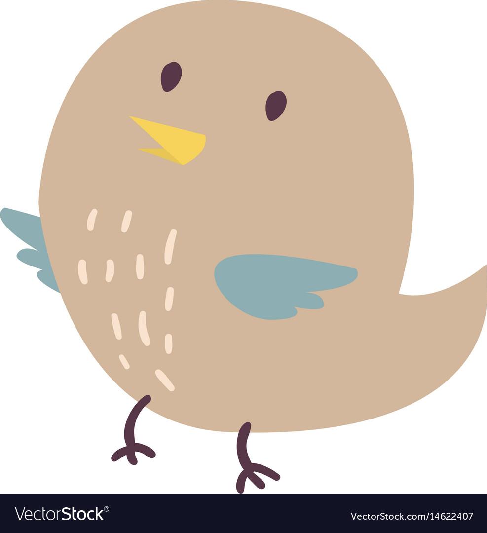 Cute bird cartoon colorful