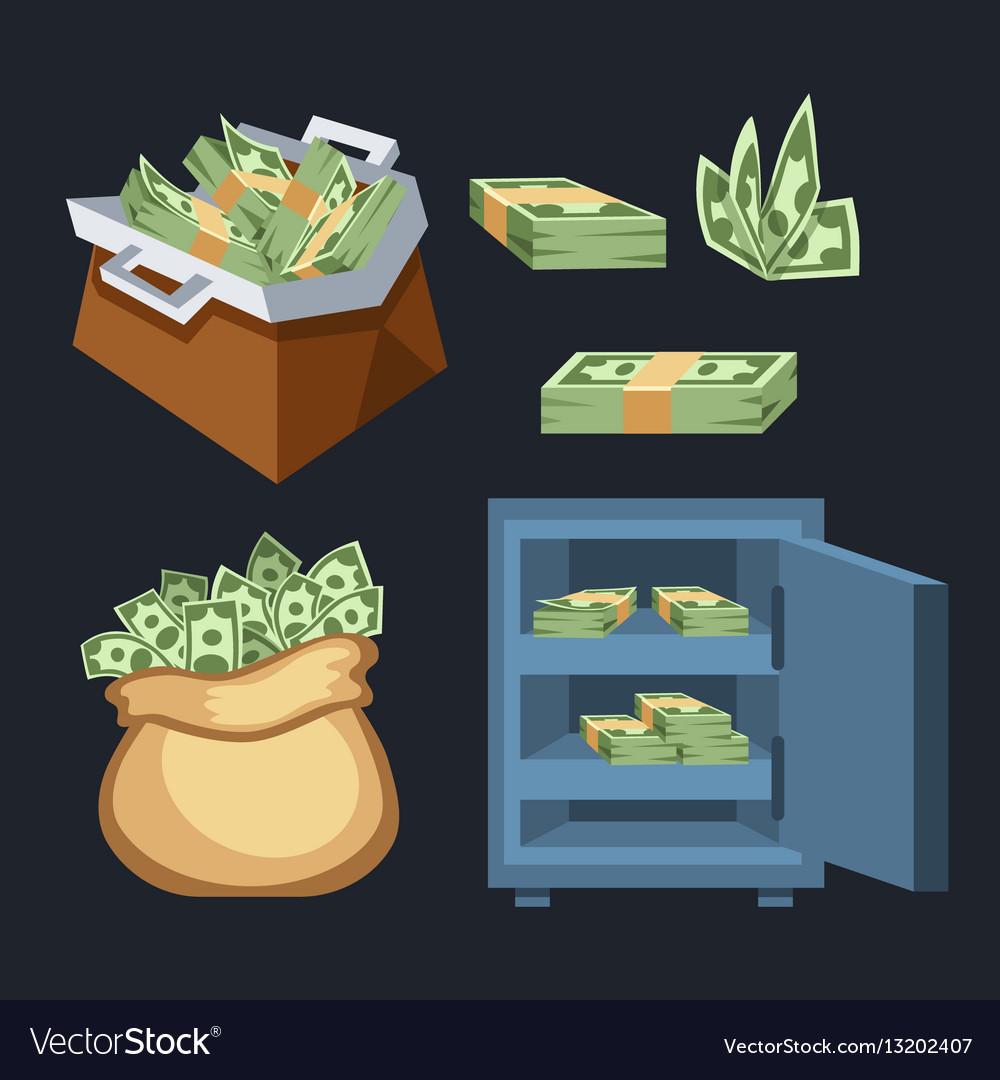 Dollar paper business finance money stack symbols