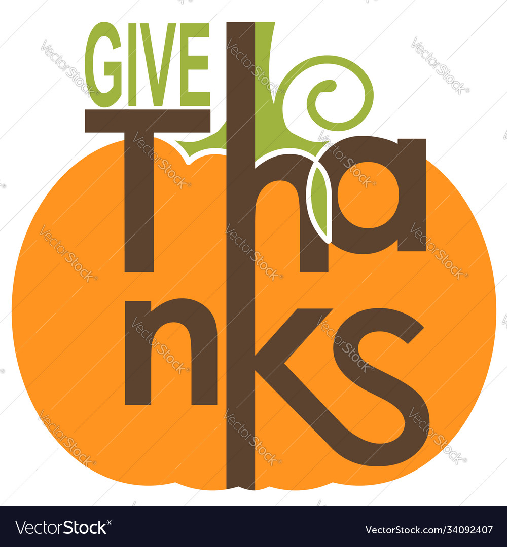 Give thanksgiving card with yellow pumpkin and
