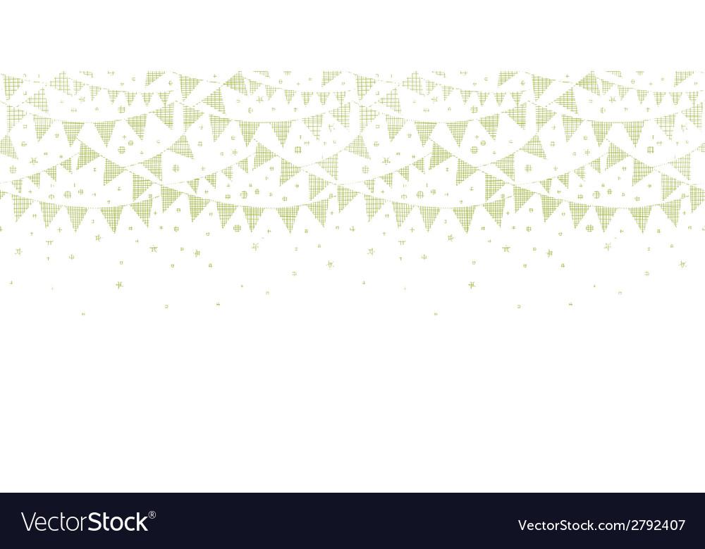 Green Textile Party Bunting Horizontal Seamless