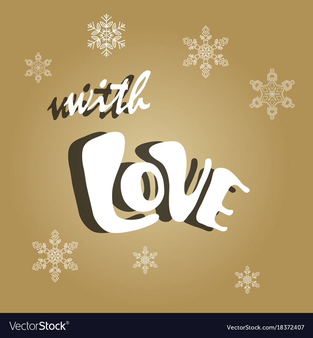 happy new year card celebration concept with love vector image