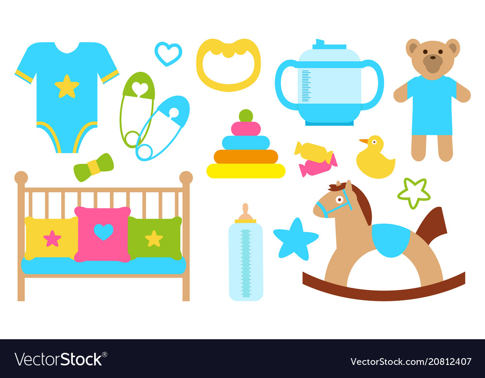 Objects and items for kids poster