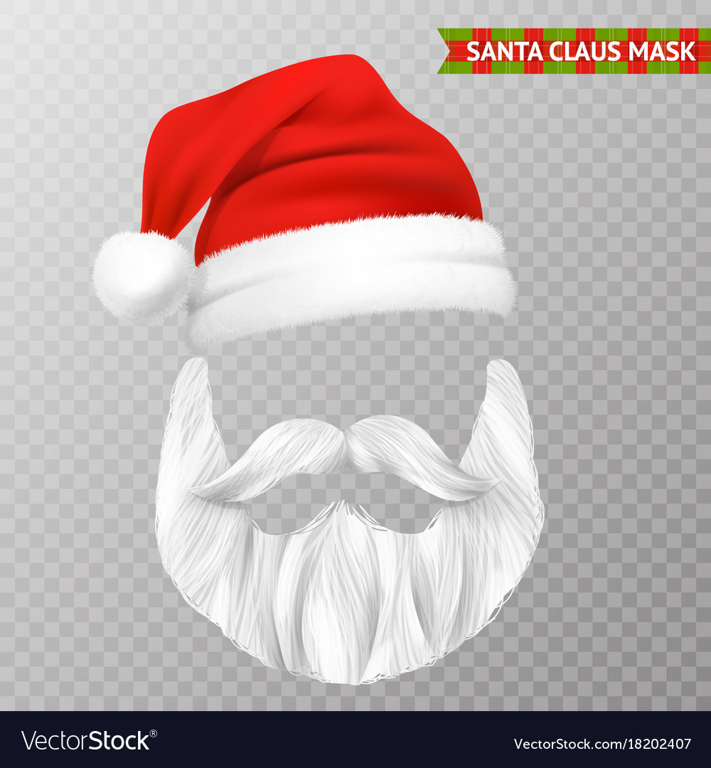 Transparent Christmas Hat.Santa Claus Transparent Christmas Mask