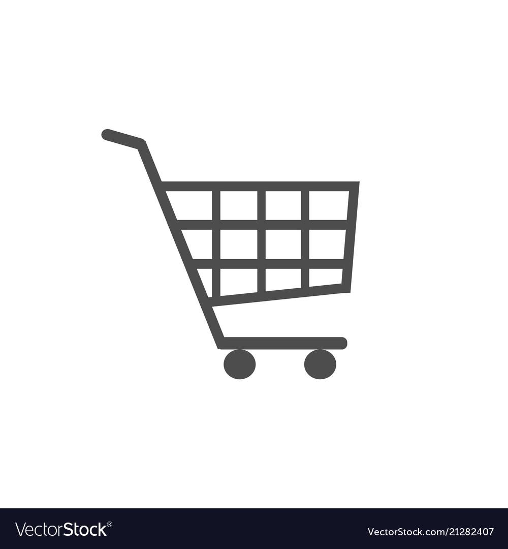 Shopping cart icon flat design best icon