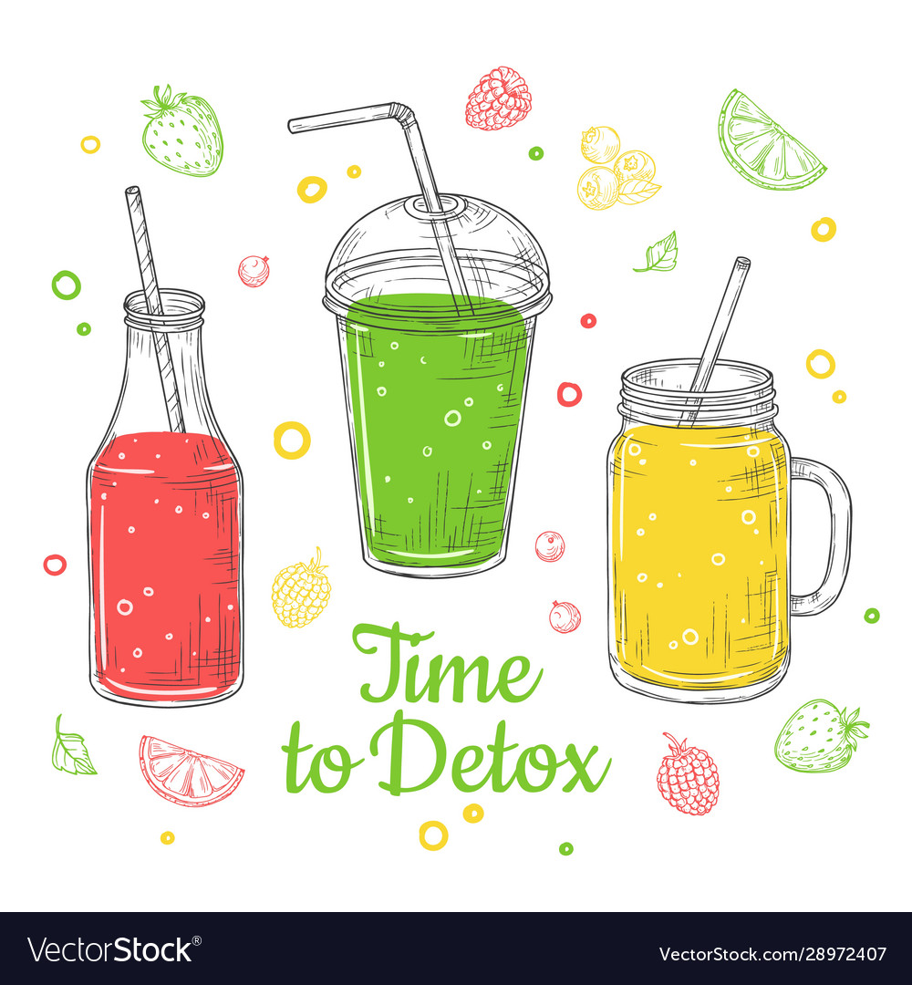 Smoothie background summer drink doodle healthy