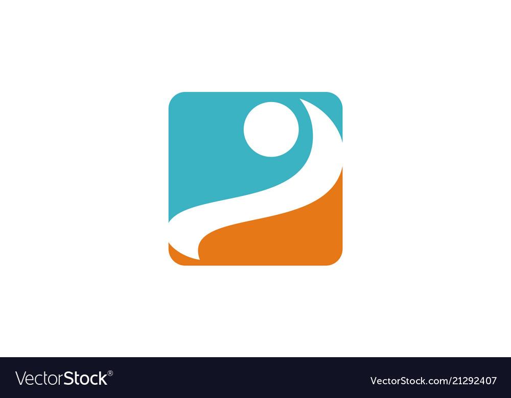 Square swoosh logo