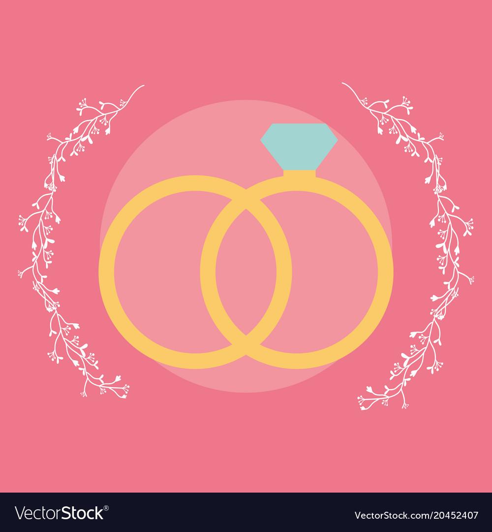 Wedding rings design Royalty Free Vector Image