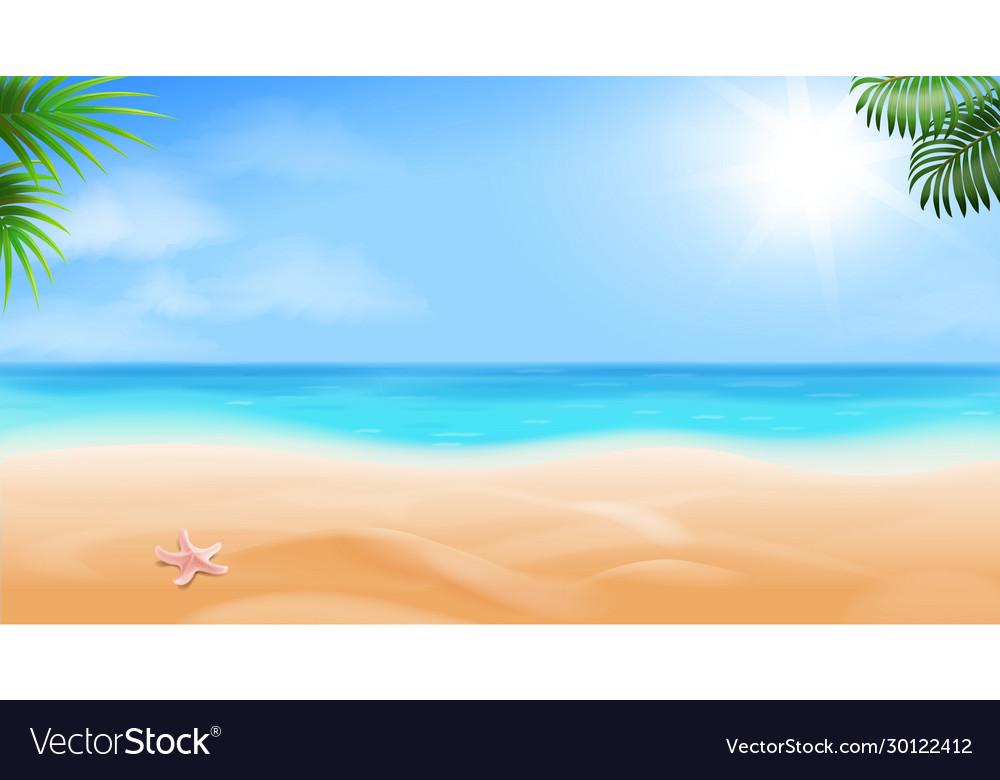 Beach and tropical sea seaside view