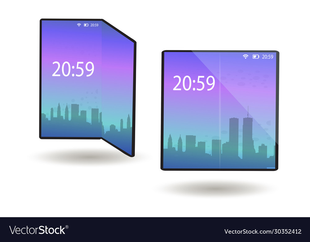 Foldable phone smartphone with a flexible screen