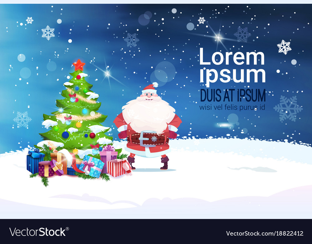 Holiday banner with copy space santa claus