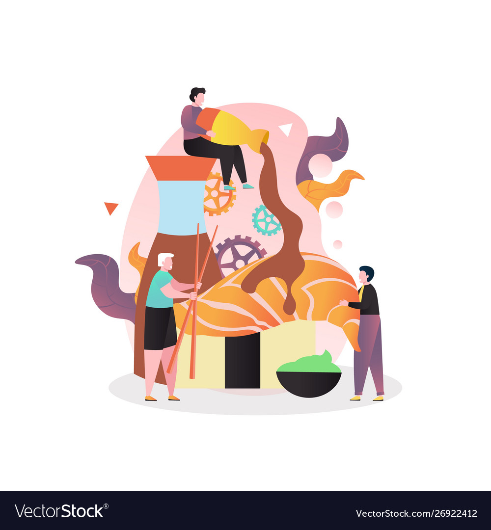 Japanese food concept for web banner