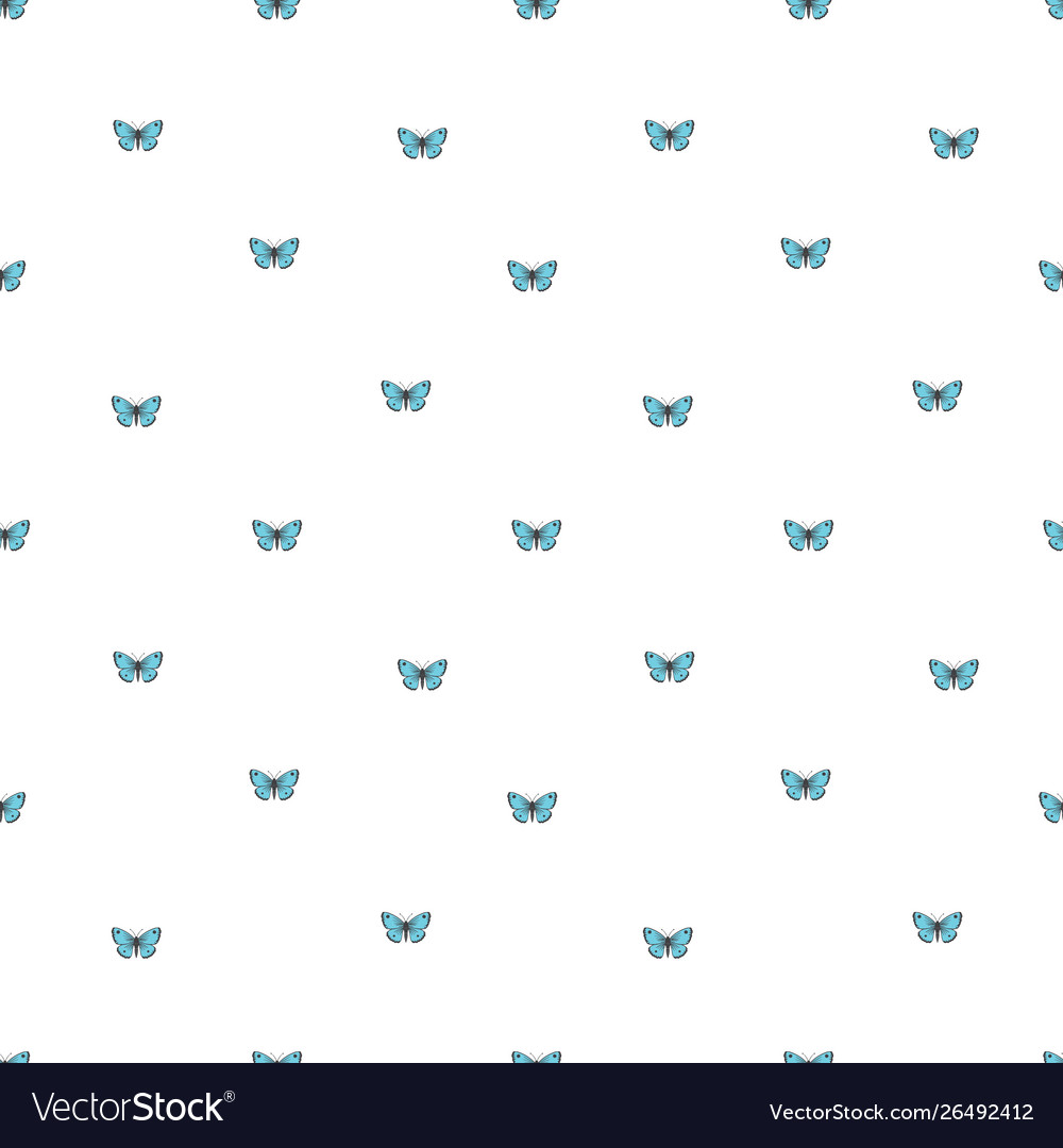 Seamless background with little butterflies
