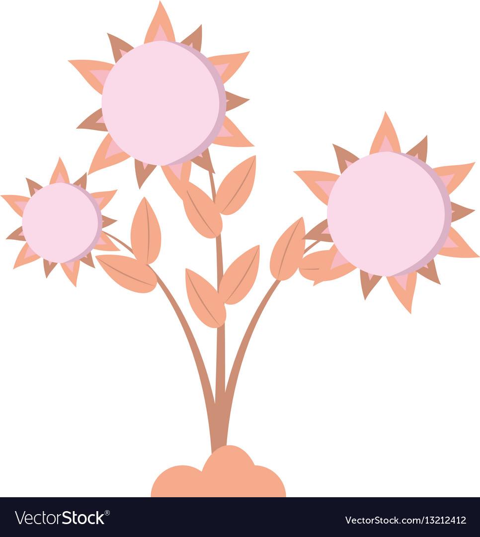 Sunflower floral pretty round