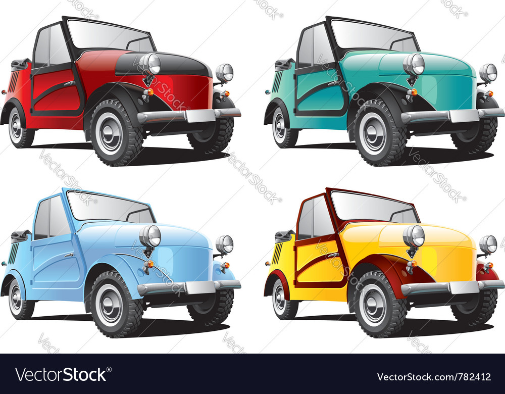 Vintage classic convertable car vector image