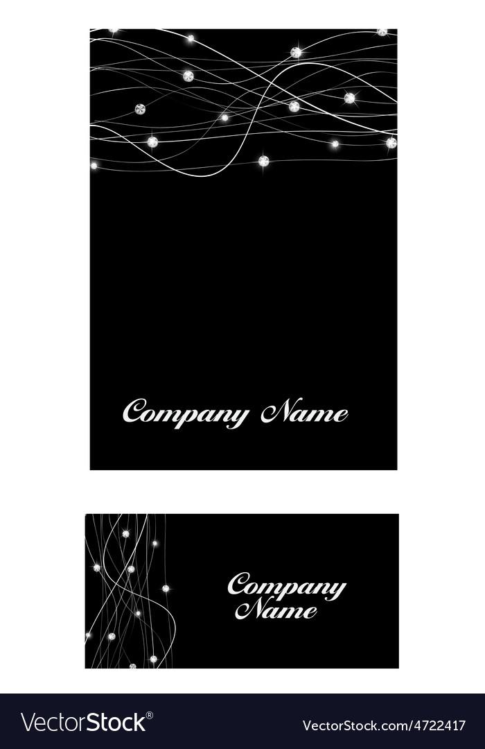 Abstract luxury black diamond business card vector image colourmoves