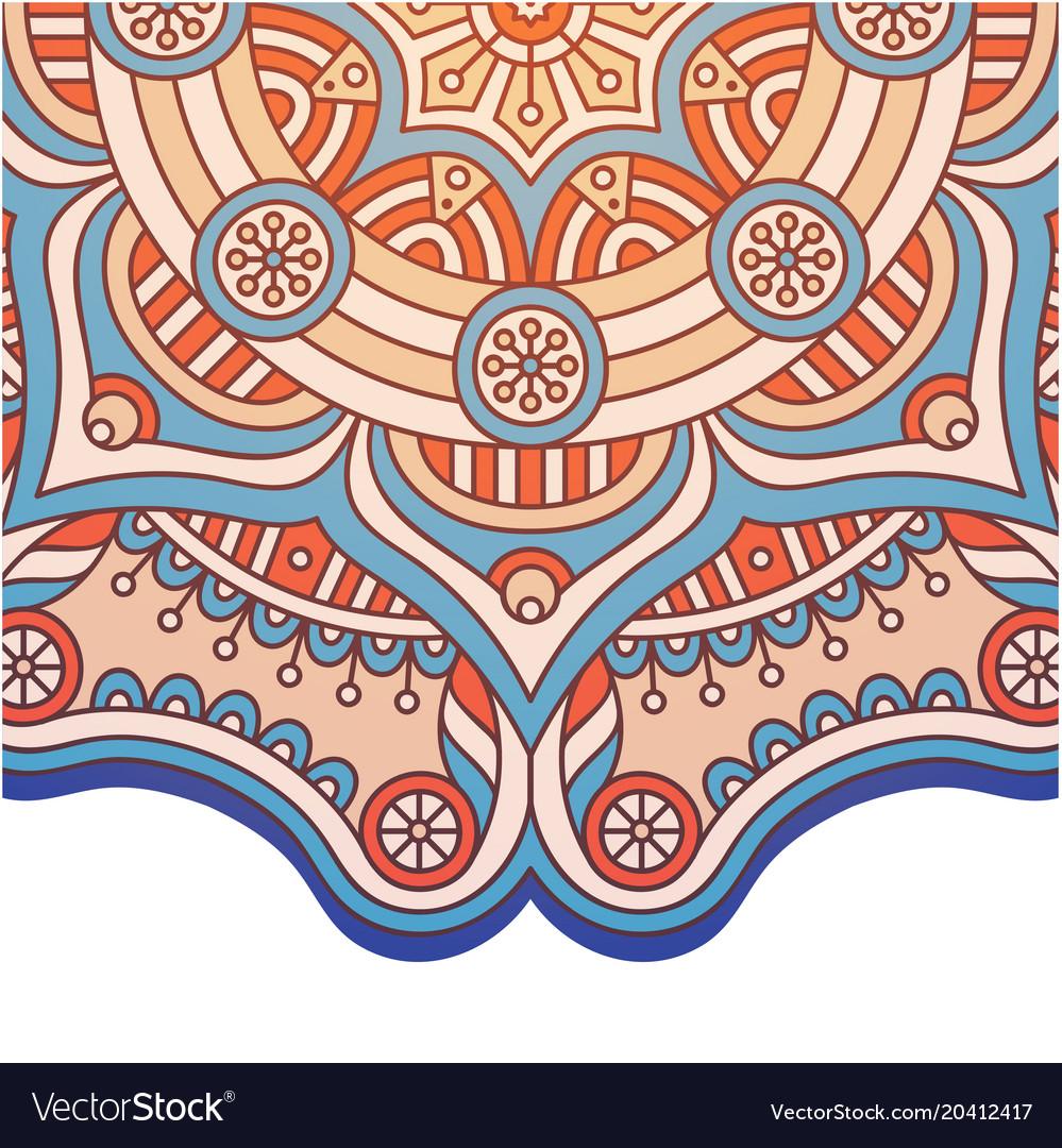 Abstract mandala design pink tone image